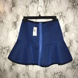 joa Skirts - NWT Joa fit and flare navy & blue fishnet overla